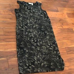 Liz Claiborne Woman 2X Black white floral Maxi